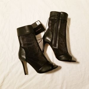 ☆ NEW - Mesh heel boots - Forever 21